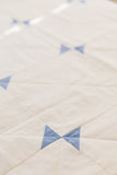 Blue-and-Cream Amish Hourglass Throw Quilt