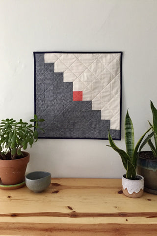 Log Cabin Wall Quilt by Salty Oat