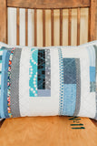 Blue + White Improv Patchwork Lumbar Throw Pillow No. 3