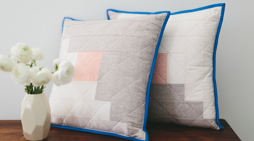 Log Cabin Pillows by Salty Oat