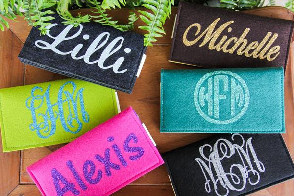 Monogrammed Clutches & Purses