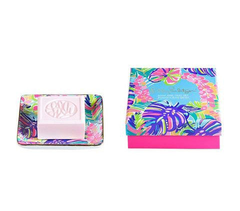 Lilly Pulitzer Soap & Tray Set