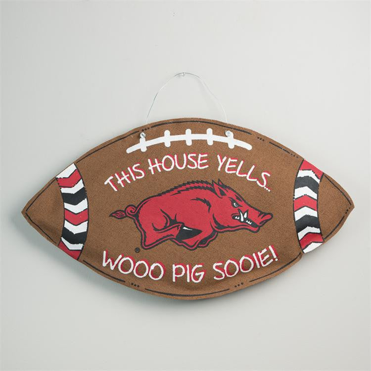 Collegiate Football Door Hanger