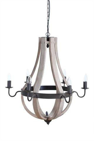 Chandelier with Metal and Wood