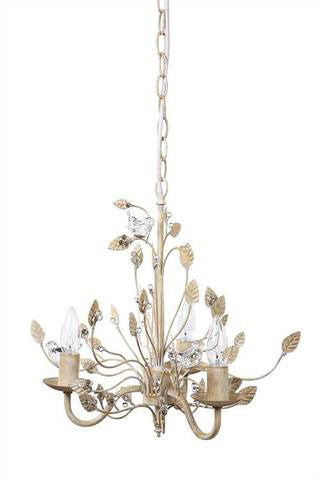 Glass Bird Metal Chandelier Pendant