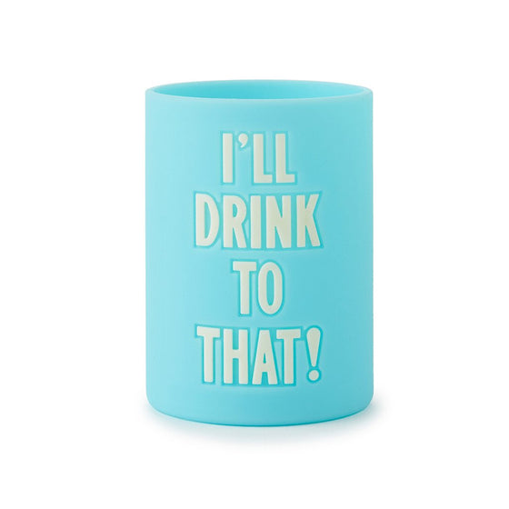 I'll Drink to That Drink koozy by Kate Spade