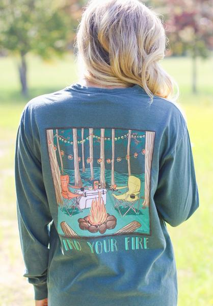 Anna Grace Tee Bonfire-Long Sleeve