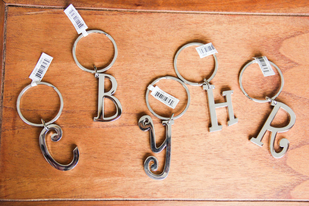 Initially Yours Keyrings- Silver