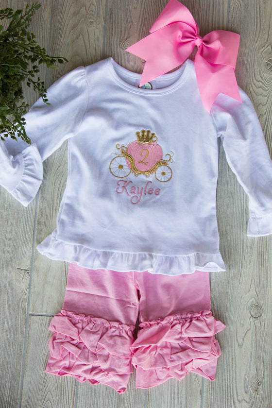 Cinderella Themed Second Birthday Outfit Set