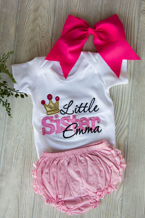 Little Sister Outfit Set w/ Name