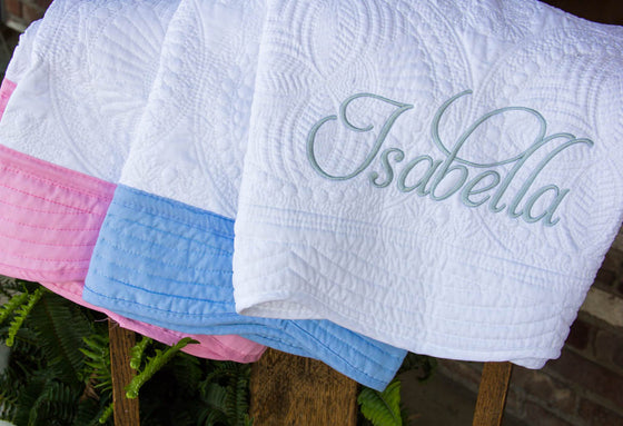Personalized Quilted Baby Blanket