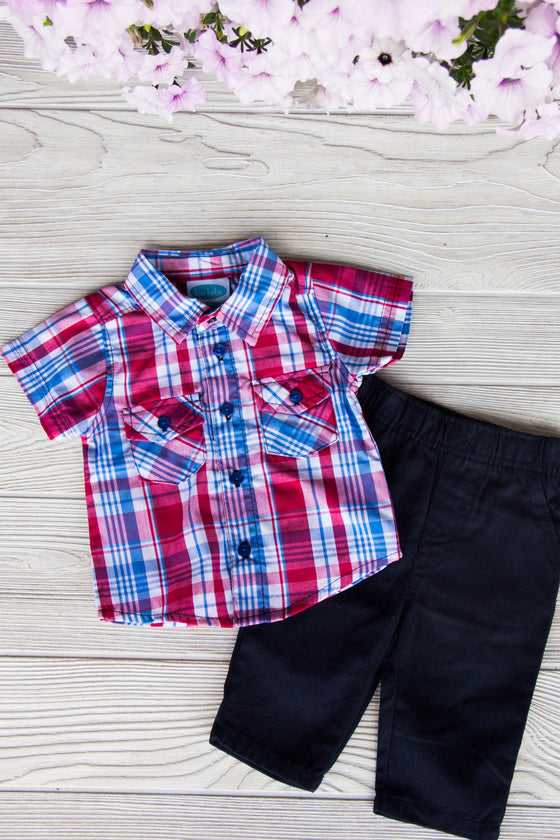 Plaid Outfit Set