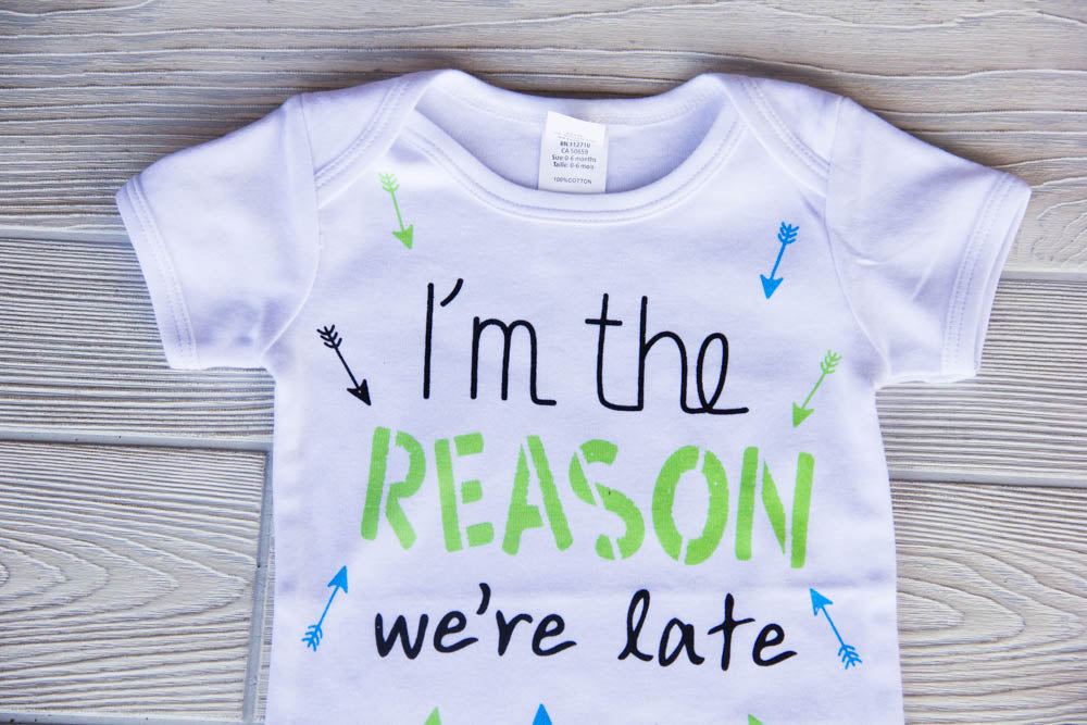 I'm The Reason We're Late Diaper Shirt