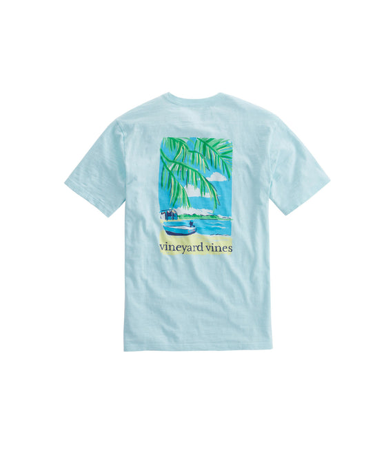 Blue Fin Short Sleeve Beach Time Pocket Tee