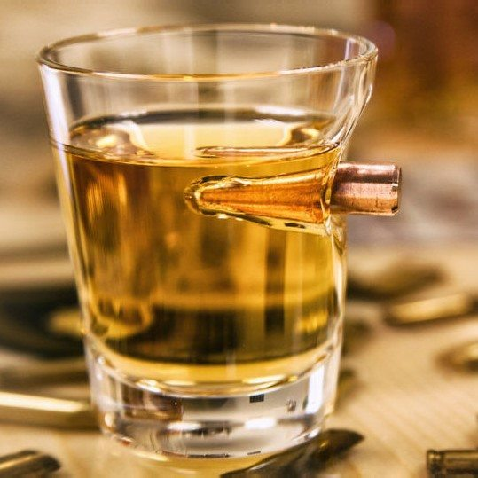 .308 Bullet Shot Glass