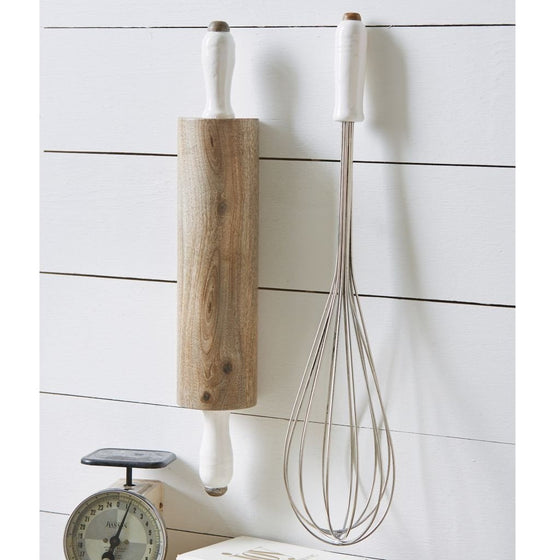 Giant Rolling Pin & Whisk Wall/Cabinet Art