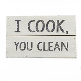 I Cook You Clean Plaque