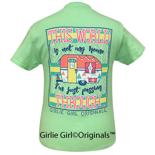 Girlie Girl Tee Camper Hebrews 13:14