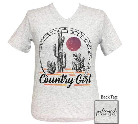 Girlie Girl Tee Country Girl-V/Neck Short Sleeve