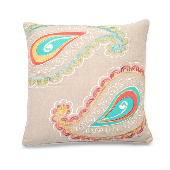 Ashbury Spring Paisley Accent Pillow