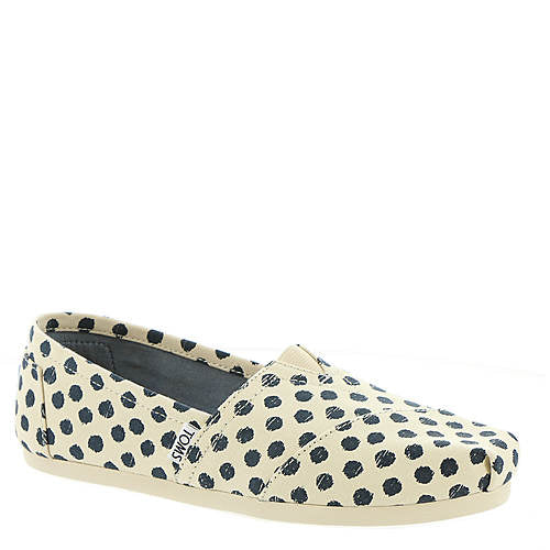 Classic Natural/Navy Polka Dot