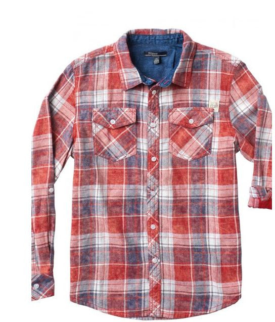 Silver Jeans BOYS LONG-SLEEVE Plaid SHIRT