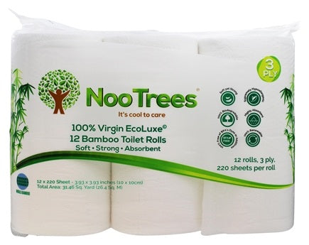 100% Virgin Ecoluxe Bamboo Pulp 3-Ply Bathroom Tissue | 12 Roll(s)