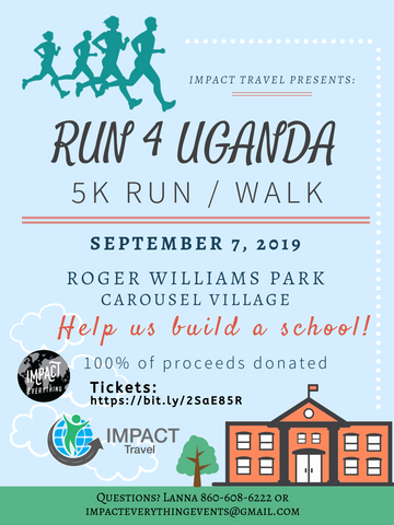 Run 4 Uganda | 5K Ticket | Roger Williams Park