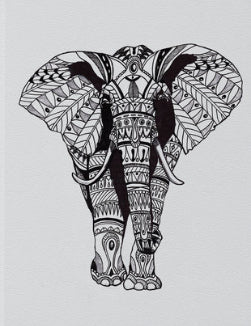 Tribal Elephant Vegan Leather Sketchbook