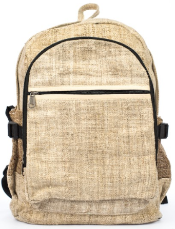 Hemp Backpack | Heavy-Duty | Black Padded Interior