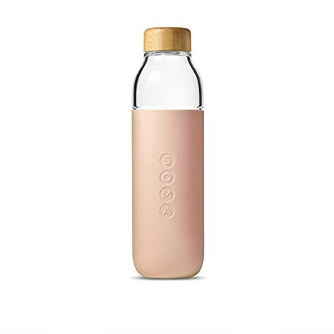 SOMA  glass water bottle | blush