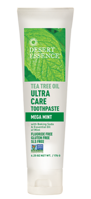 Desert Essence Tea Tree Oil Ultra Care Mega Mint Toothpaste