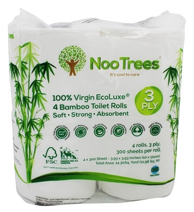 100% Virgin Ecoluxe Bamboo 3-Ply Toilet Rolls | 4 Roll(s)