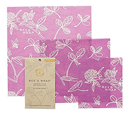 Bee's Wrap | CLOVER PRINT - ASSORTED SET OF 3 SIZES (S, M, L)