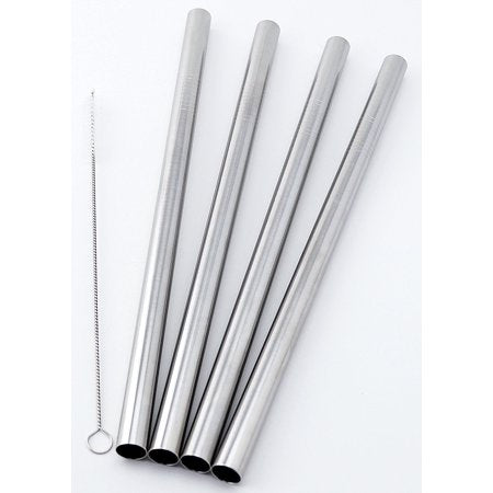 Stainless Steel Metal Bubbletea Straws | Cleaner Included | Set of 4