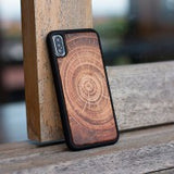 TREE RING WOOD IPHONE X CASE