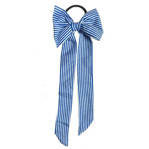 Aqua Striped Hair Tie