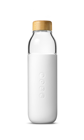 SOMA  glass water bottle | white