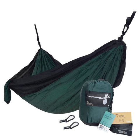 """Dark Forest"" DOUBLE Hammock - Green and Black"