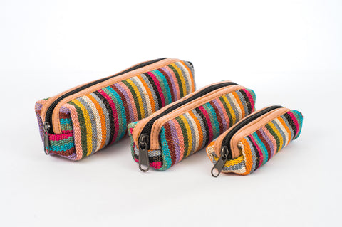 "Pure Hemp Pencil Case | Taste The Rainbow | ""Matryoshka"" Style 