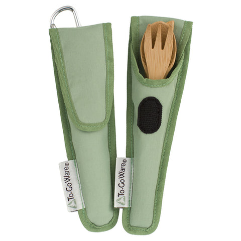 Kids Bamboo Utensil Set - Kiwi