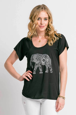 Magic Elephant Tee | Black
