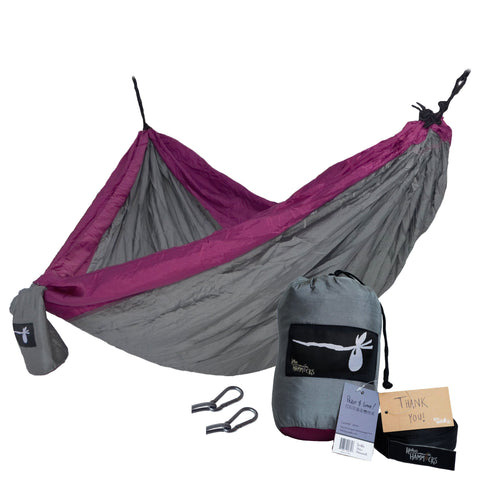 """Purple People Eater"" DOUBLE Hammock - Gray Purple"