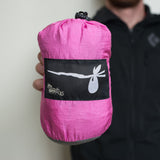 """Pink Panther"" DOUBLE Hammock - Grey and Bright Pink"