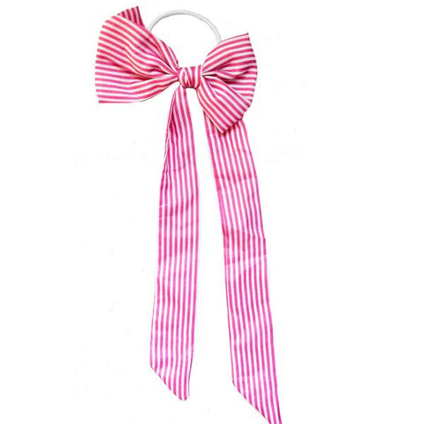 Pink Striped Flamingo Hair Tie