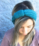 True Blue Knit Turban