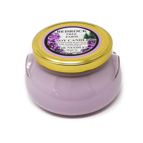 GLASS TUREEN JAR SOY CANDLE LAVENDER 20OZ