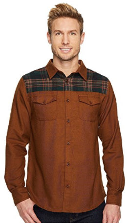 Banff Plaid Yoke Wool Shirt | Brown