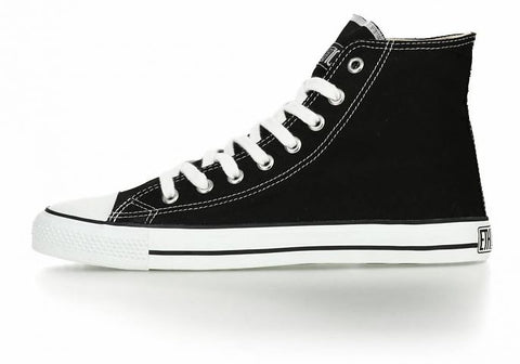 FAIR TRAINER WHITE CAP HI CUT CLASSIC JET BLACK | JUST WHITE
