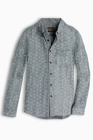 Print | Bison Button Down | Blue Grey